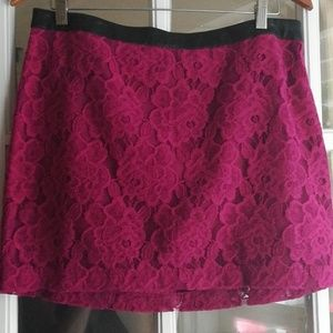 Lace mini/pencil skirt